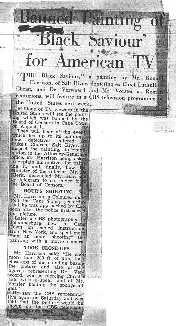 Press Archive | Black Christ